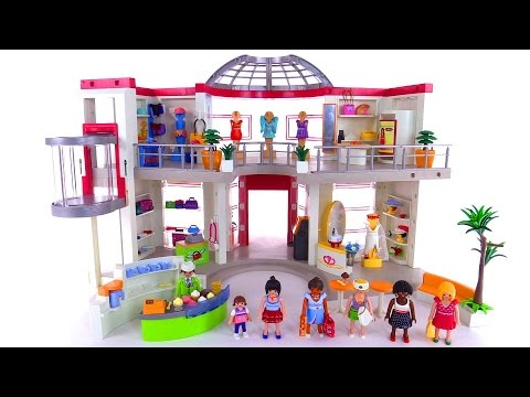 Huge Playmobil Furnished Shopping Mall Review Set 5485 Youtube