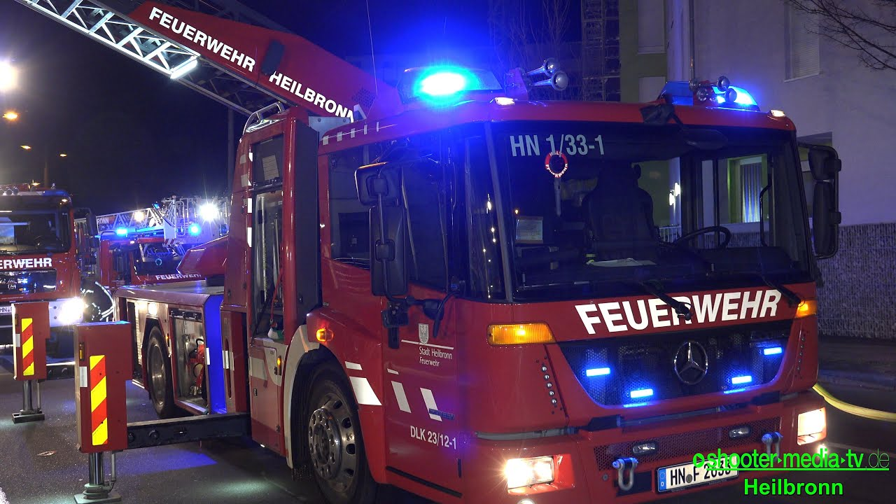 Feuerwehr Heilbronn Einsatzfahrzeuge Dlk Brandanschlag Auf Gebäude E