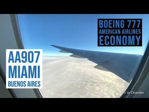 Miami - Buenos Aires - American Airlines Boeing 777-200 - Economy