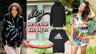 DIY: REVERSE Tie-Dye 3 Ways!! (Foolproof Tutorial) -By Orly Shani