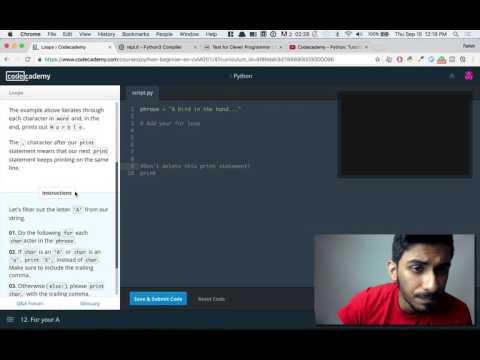 Codecademy Python Tutorial #22