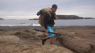 Overnight fishing hike, South coast N.S.W. Australia