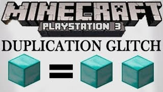 Minecraft PS3 / XBOX 360 - 1.07 ( TU17 ) Duplication Glitch Tutorial How to Duplicate Items / Blocks