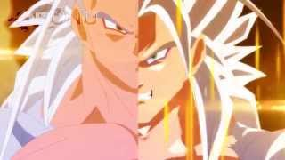 vuclip Fused Evil Goku vs Super Saiyan 5 Vegeta (Dragon Ball EX)