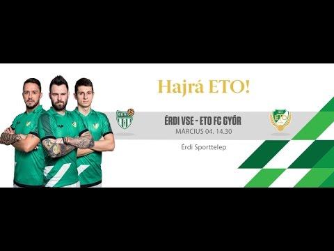 ÉRDI VSE - ETO FC Győr ÉLŐSTREAM MA 14:30
