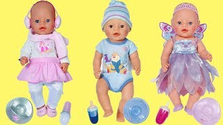Baby Born Fairy Doll, Winter Doll & Baby Boy Doll - Care Baby Dolls with Food, Bath and Pram