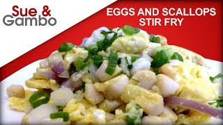 Eggs and Scallops Stir Fry Recipe