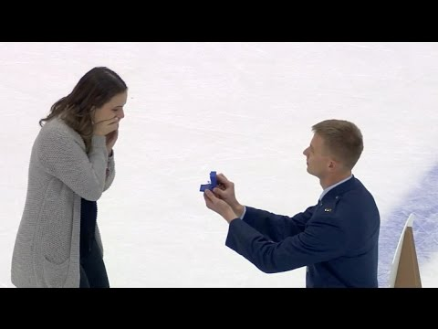 Marriage Proposal at RIT Hockey Game