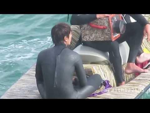 "[FANCAM] Lee Minho Surfing Scene for ""The Heirs"" 130917"