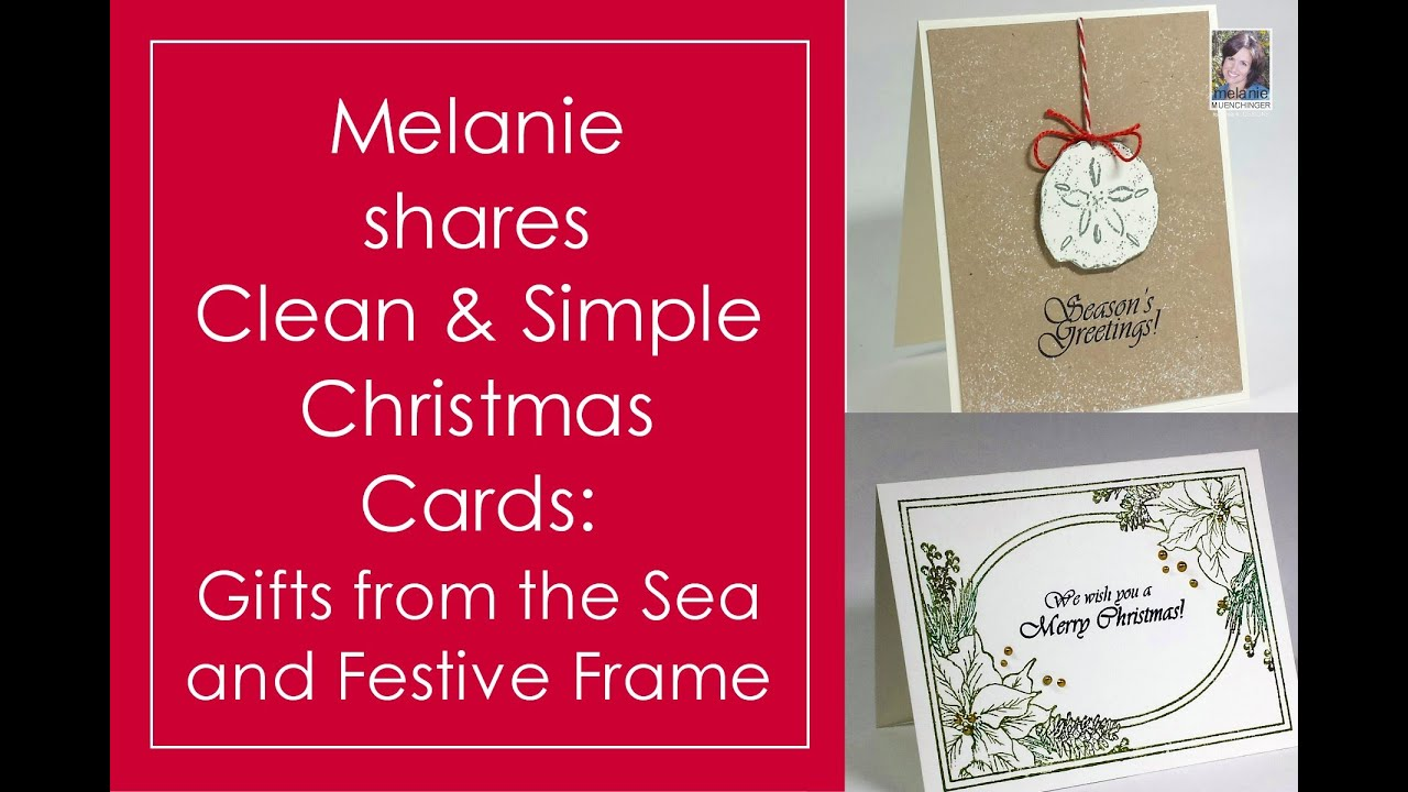 How to Stamp Clean and Simple Christmas Cards - YouTube