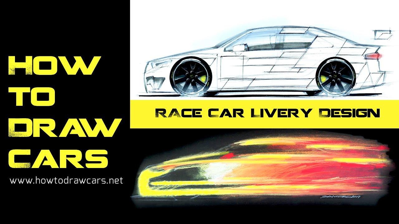 Car Design Drawings Race Car Livery Design Project Youtube