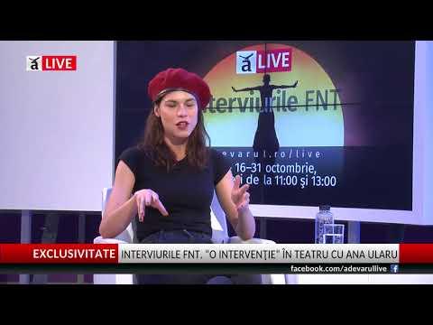 """Ana Ularu @Adevărul Live: """"Uneori, miam pus toată viaţa întro valiză"""""""