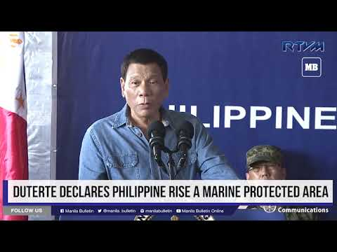 Duterte declares Philippine Rise a marine protected area