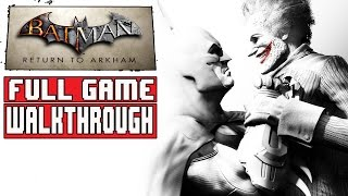 BATMAN RETURN TO ARKHAM CITY Gameplay Walkthrough Part 1 FULL GAME (Batman Arkham City Remastered)
