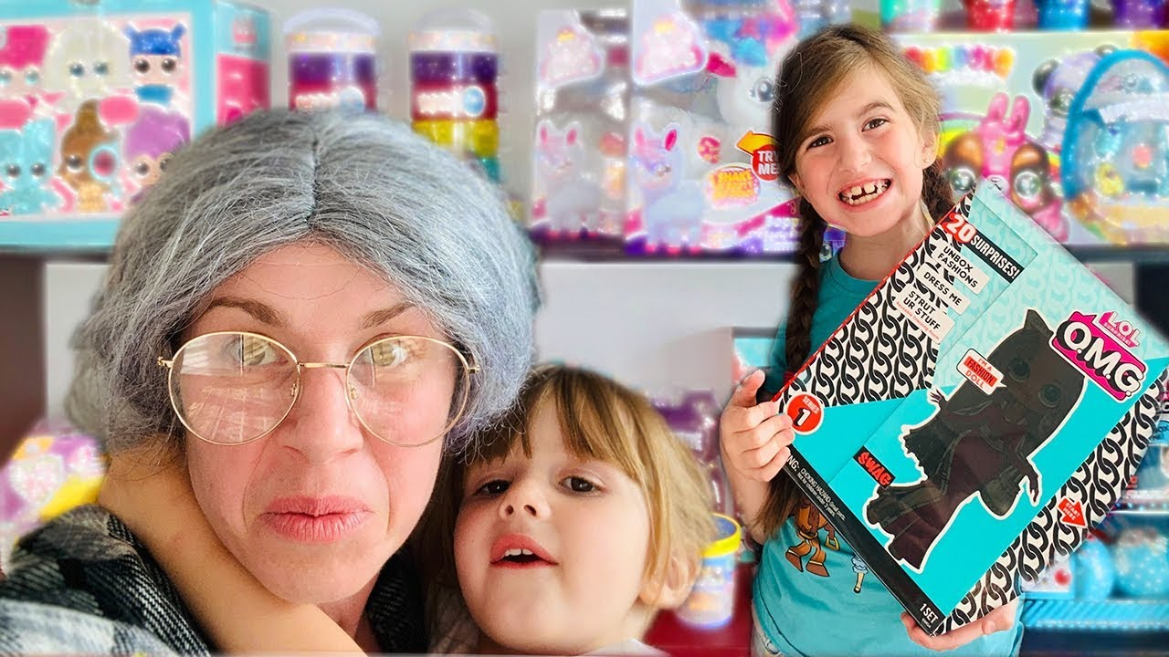 Boodah Bunch Kids Go Toys Shopping at Granny's Toy Store!
