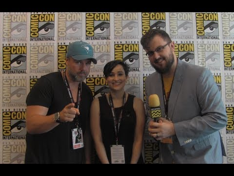 Bex Taylor Klaus & Tyler Labine (Voltron: Legendary Defender) at San Diego Comic-Con 2017