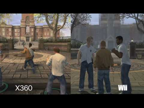 Bully Comparison - Xbox 360 vs. Wii vs. PlayStation 2 (HD)