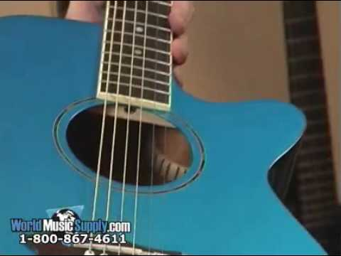 Washburn Acoustic/Electric Guitar EA16 Demo