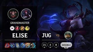 Elise Jungle vs Olaf - KR Grandmaster Patch 10.3