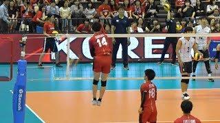 Yuki Ishikawa, Yuji Nishida Japan national team spike warm up Left side spike