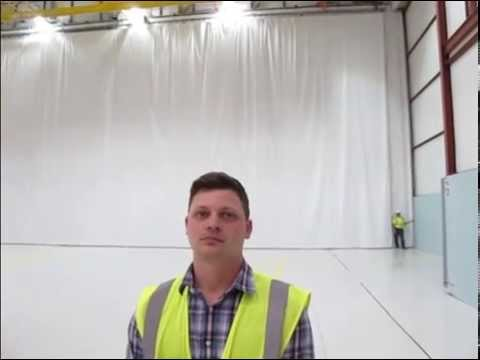 Testimonial video. Motorized industrial dividing curtain. Michoud Assembly Facilities