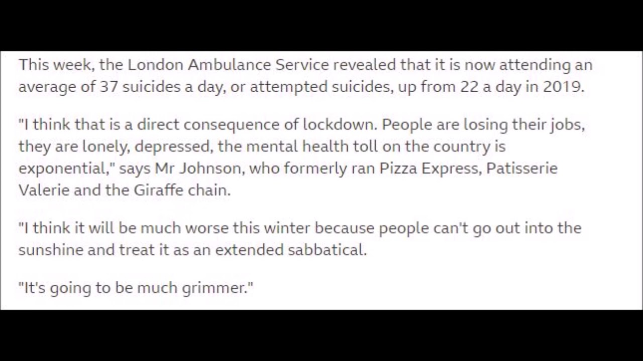 This week, the London Ambulance Service revealed an average of 37 suicides a day