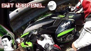 14#Motovlog - Cadute, perdita di pezzi e automobilisti che guidano da cani! Giornata da dimenticare!
