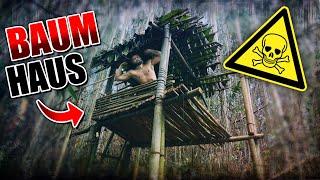 BAUMHAUS im Dschungel bauen #004 - Unge Survival Challenge - Bushcraft Camp | Fritz Meinecke