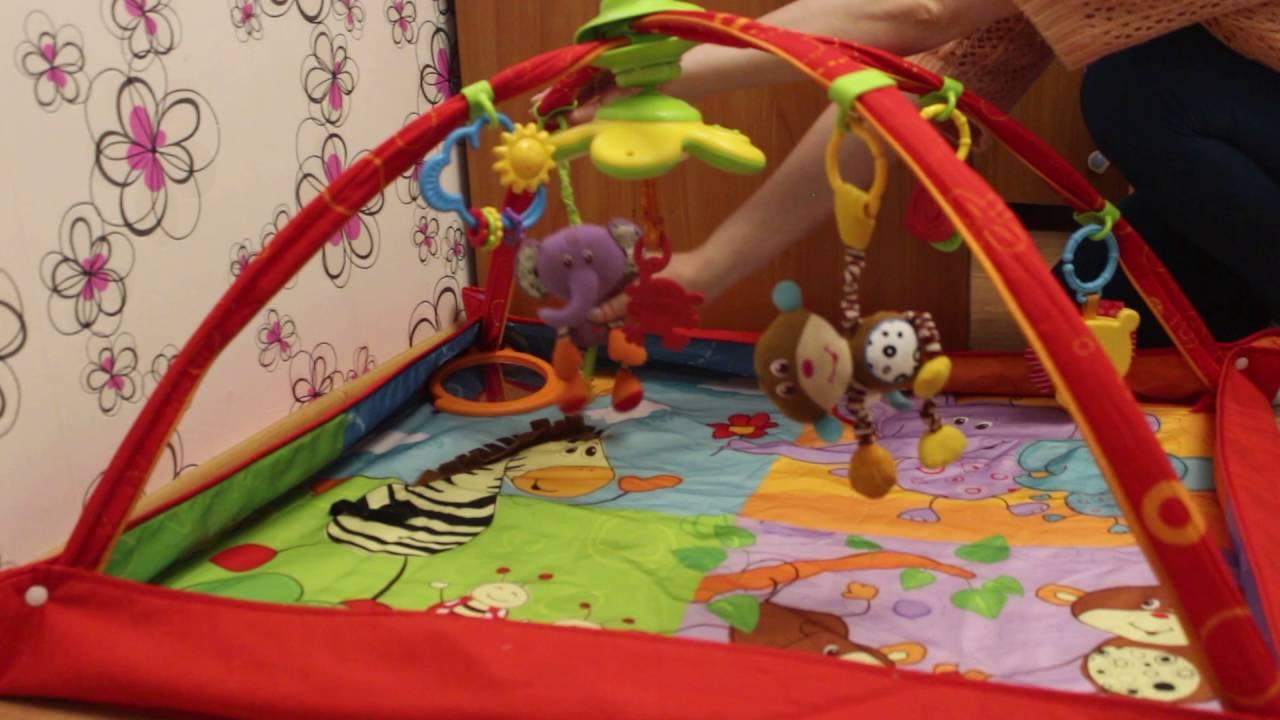 Tiny love Развивающий коврик Разноцветное Сафари