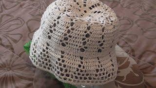Летняя шляпка крючком. Схема. Видео урок.