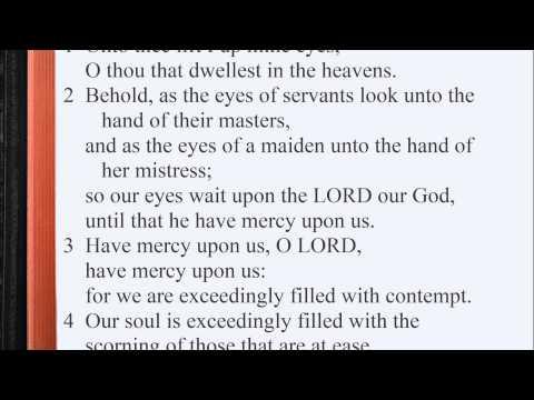 Psalm 123:1-4 ♩♫ KJV Scripture Song, Full Chapter