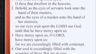 Psalm 123:1-4 ♪♩ KJV Scripture Song, Full Chapter Verbatim