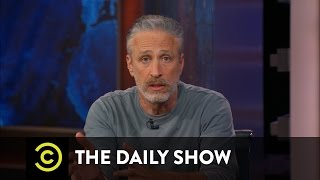 Former Daily Show host Jon Stewart shares his attempts to interview senators about the renewal of the Zadroga Act, which provides health care to 9/11 first ...