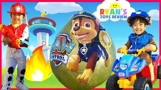 PAW PATROL TOYS Giant Egg Surprise opening with Ryan! thumbnail