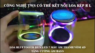 Loa Bluetooth C7 Không Dây 5.0, Có TWS Kết Nối Loa Đôi RL, Âm Thanh Vòm, Led Phát Sáng 7 Màu