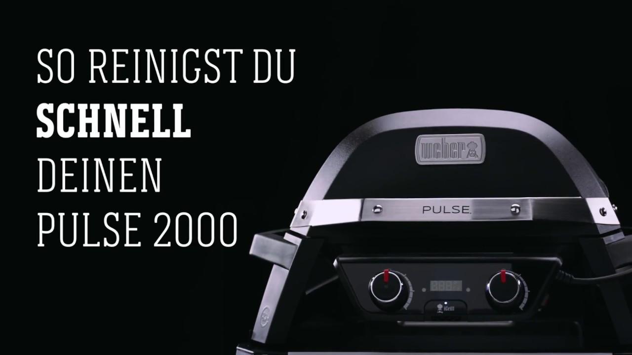 Weber Stephen Grill Pulse 2000 Schnellreinigung Youtube