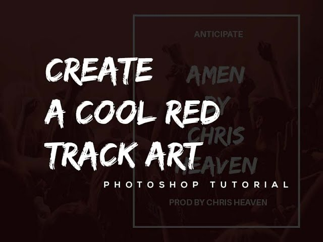 How to design a cool red track art like using Photoshop