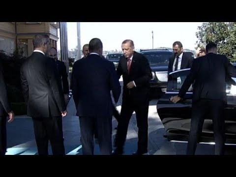 Turkish President Erdogan arrives for Syria summit in Istanbul