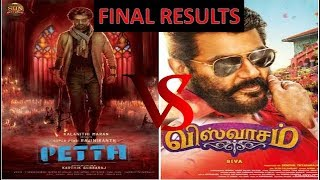petta vs viswasam final results|rajini vs ajith who win the game