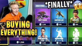 Tfue BUYS The WHOLE ITEM SHOP! (SKINS, Emotes, Gliders...) | Fortnite Highlights
