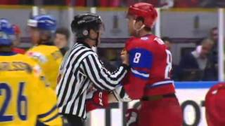 Sweden vs Russia U20 brawl