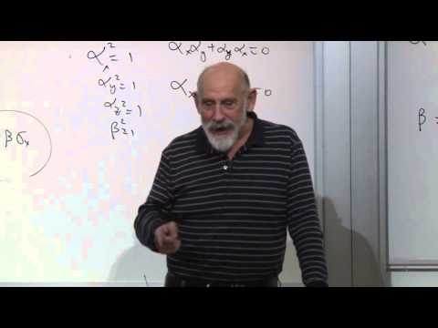10  Advanced Quantum Mechanics Lecture 10