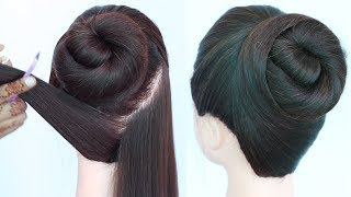 simple and easy bun hairstyle for summer || quick hairstyle || cute hairstyles || juda hairstyle