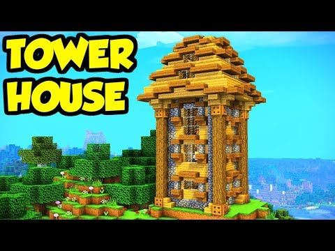 Minecraft Tower House Base Tutorial How To Build Youtube