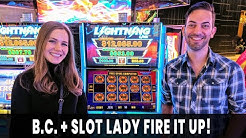 🔥 BC &  @Slotlady FIRE IT UP! 🌴 Tiki Fire Brings the HEAT and the Comeback!  💵