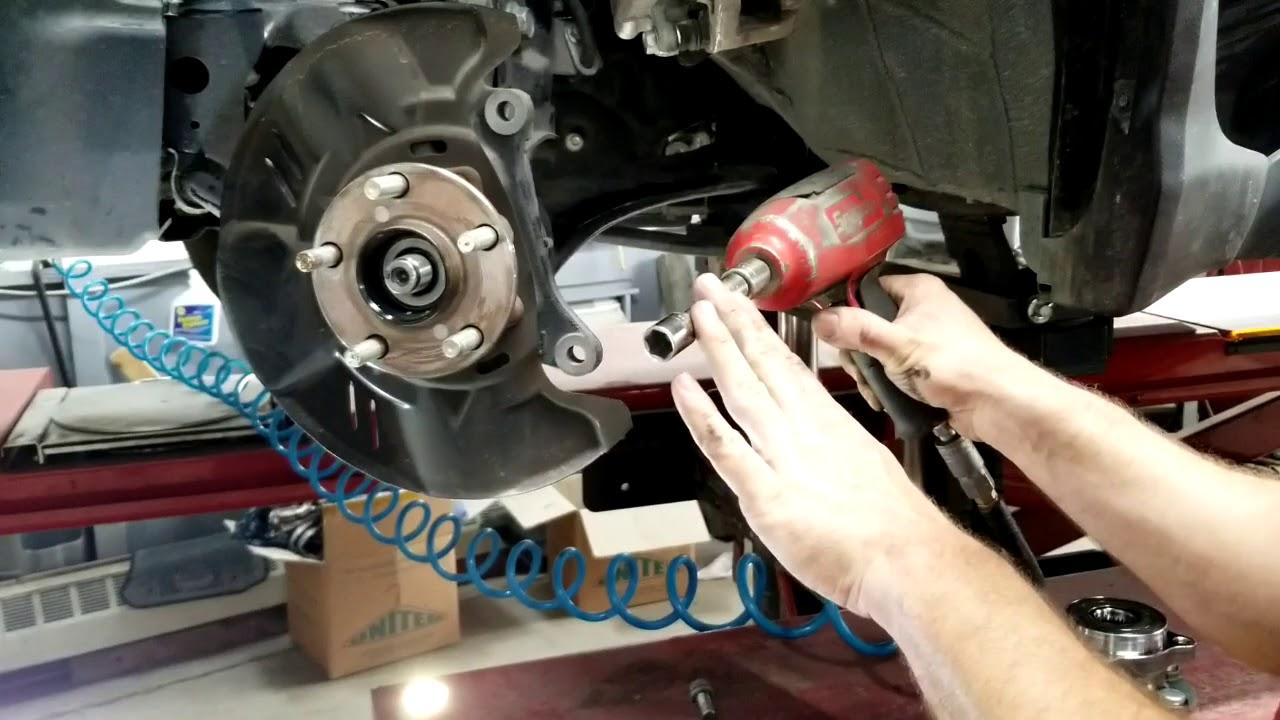 how to replace front wheel bearing hub on a subaru xv crosstrek impreza wrx step by step  [ 1280 x 720 Pixel ]