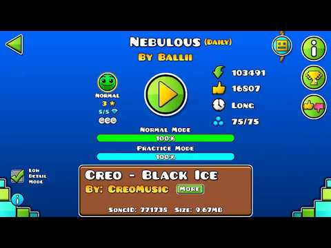 [GD] NEBULOUS BY BALLII (ALL COINS) (DAILY LEVEL) | GEOMETRY DASH 2.11