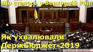 Держбюджет 2019: як ухвалювали документ / ВІДЕО того що сталося у Верховній Раді в ніч на 23.11.2018