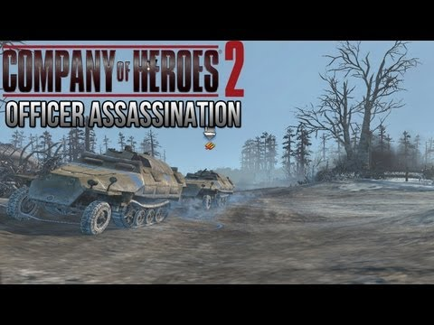 Company of Heroes 2 - Officer Assassination on General - Theater of War Gameplay