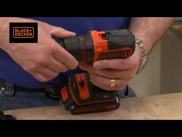 Black and Decker 18v Li-Ion Cordless Combi Drill